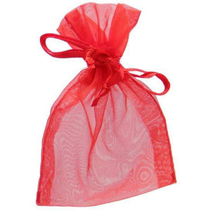 Red Organza Favour Bags x10