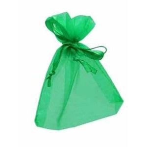 Emerald Green Organza Favour Bags x10