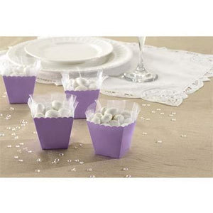 Lilac Favour Scallop Boxes 100pk - mypartymonsterstore