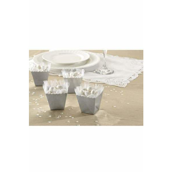 Silver Favour Scallop Boxes 100pk