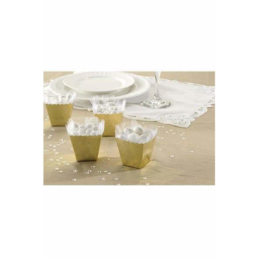 Gold Favour Scallop Boxes 100pk