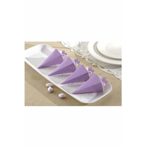 Lilac Cone Favour Boxes 50pk - mypartymonsterstore