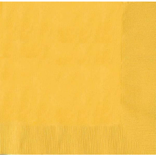 Yellow 2ply Dinner Napkins 20pk