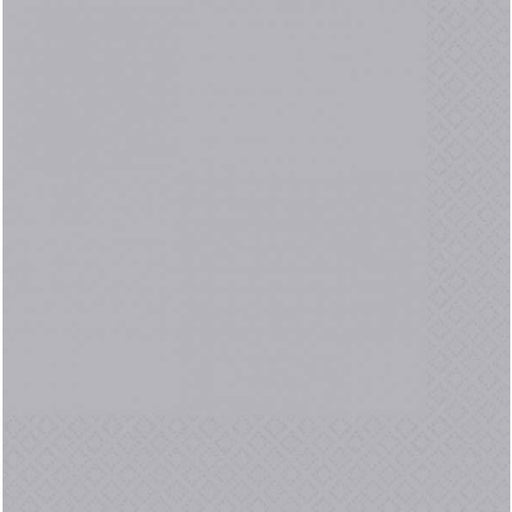 Silver 2ply Dinner Napkins 20pk