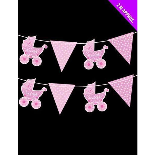 Its A Girl Ribbon Bunting