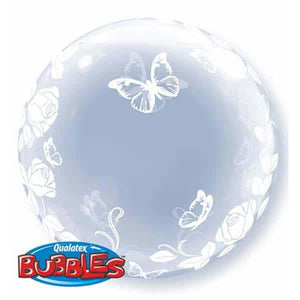 Elegant Roses And Butterflies Deco Bubble - mypartymonsterstore