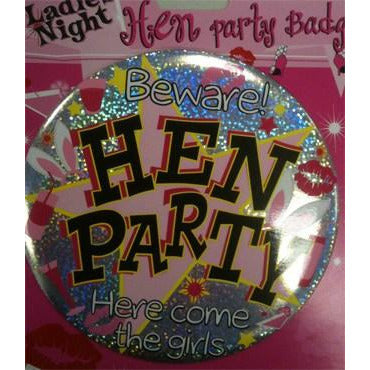 Large Hen Party Badges