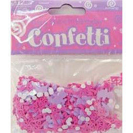 Girl First Birthday Confetti
