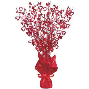 Red Glitz Foil Balloon Weight - mypartymonsterstore