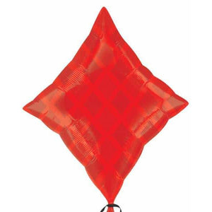 Red Diamond Junior Shape Foil Balloon - mypartymonsterstore