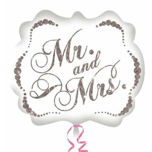 Mr And Mrs Sparkling Supershape Balloon