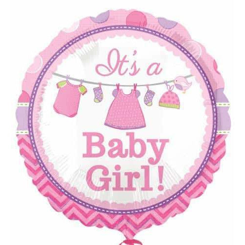 Shower With Love Baby Girl Foil Balloon