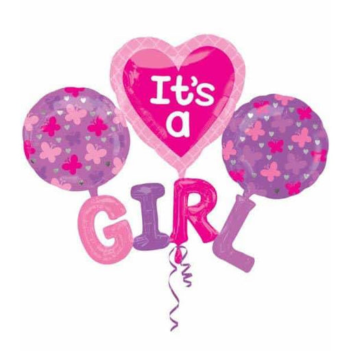 It A GIRL Multi Foil Balloons