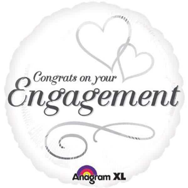 Two Hearts Engagement Foil Balloon
