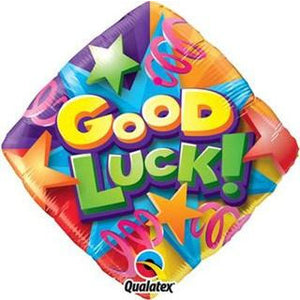 Good Luck Stars and Streamers Foil Balloon