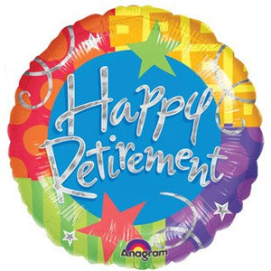 Happy Retirement Blitz Foil Balloon