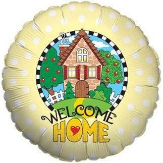 Welcome Home Yellow Foil Balloon