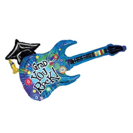 Graduation You Rock Guitar Supershape Balloon