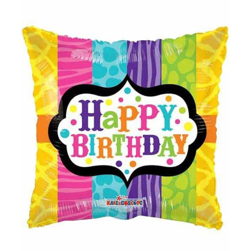 Happy Birthday Animal Print Foil Balloon