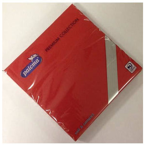 Red Paper Napkins x25