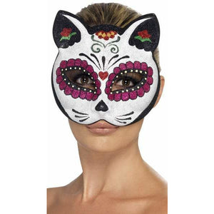 Sugar Skull Cat Eye Mask