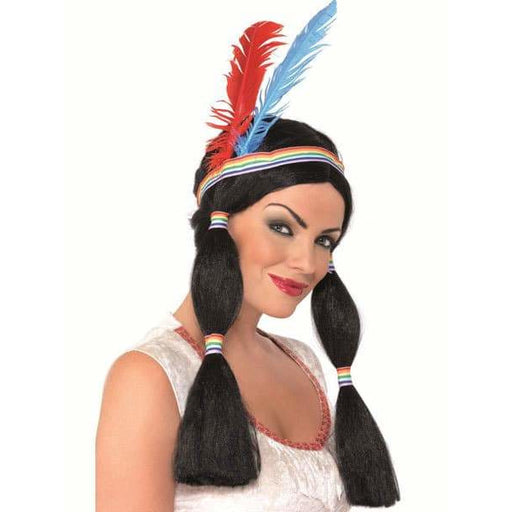 Ladies Black Indian Princess Wig