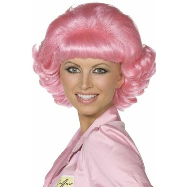 Pink Frenchy Grease Wigs
