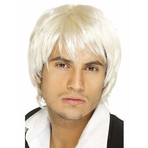 Mens Blonde Short Style Boy Band Wigs