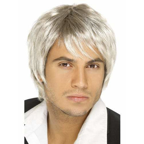 Mens Blonde And Brown Short Styled Boy Band Wigs