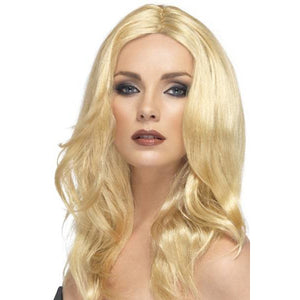 Ladies Blonde Superstar Wigs With Skin Parting
