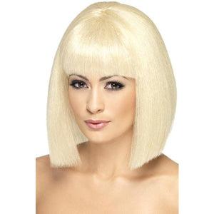 Ladies Short Blonde Coquette Wigs With Fringe