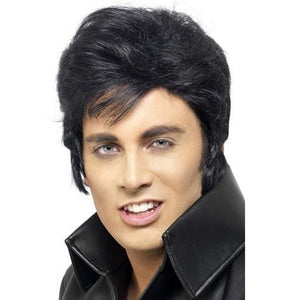Licensed Black Elvis Character Wig