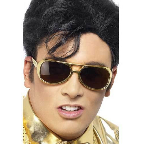 Licensed Elvis Gold Shades Glasses