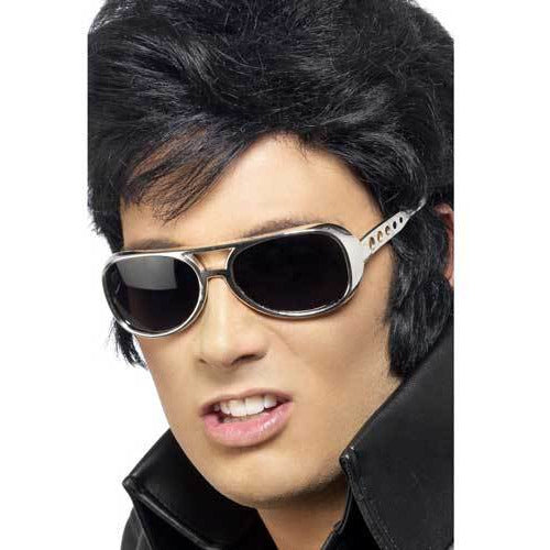 Licensed Elvis Silver Shades Glasses