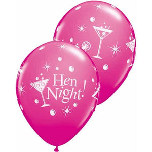 Hen Night Bubbly Latex Balloons 6ct