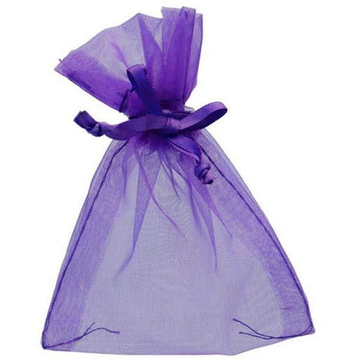 Purple Organza Favour Bags x10