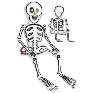 Sitting Skeleton Air Filled Foil Balloon - mypartymonsterstore