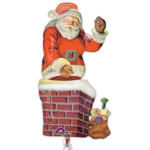Santa And Chimney Multi Balloon - mypartymonsterstore