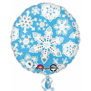 Frosty Snowflakes Foil Balloon - mypartymonsterstore
