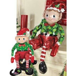 Sitting Elf Air Filled Balloon - mypartymonsterstore