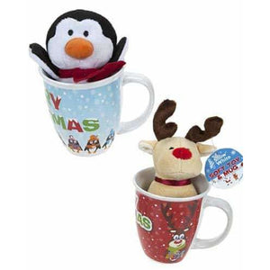 Plush Christmas Toy In Mug x1 - mypartymonsterstore