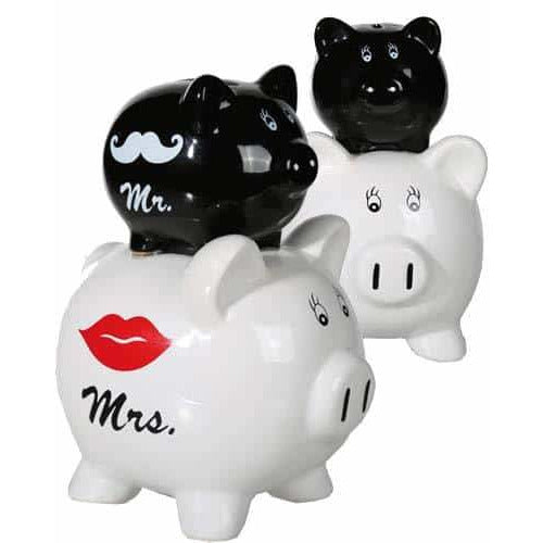 Mr And Mrs Double Piggy Saving Box