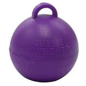 Purple Bubble Balloon Weights 1pk - mypartymonsterstore