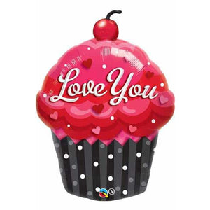 Love You Cupcake Supershape Balloon