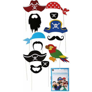 Pirate Photo Props 12pk - mypartymonsterstore