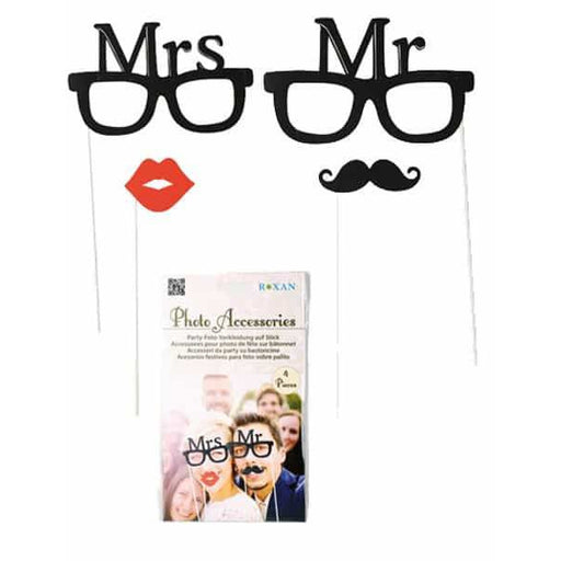 Mr & Mrs Photo Props 4pk