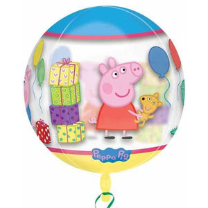 Peppa Pig Clear Orbz Balloon - mypartymonsterstore