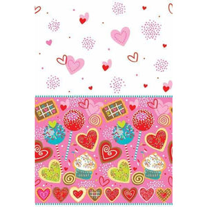 Sweet Valentine Plastic Tablecover 1pk
