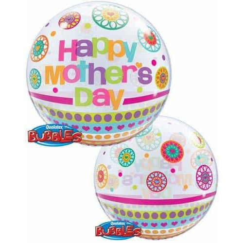 Mothers Day Dots And Patterns Single Bubble Balloon