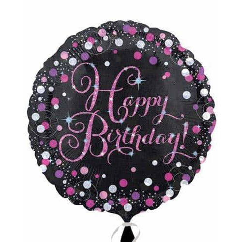Prismatic Pink Happy Birthday Foil Balloon